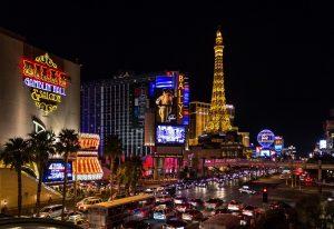 ラスベガス、アメリカ合衆国、夜の風景